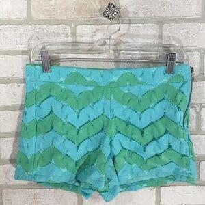 Judith March Aqua & Green Shorts